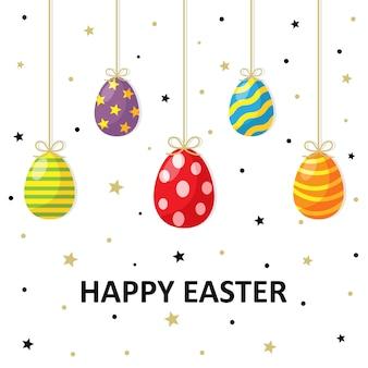 Happy easter day egg-kaart