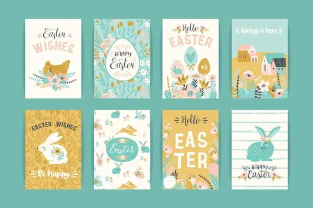 Happy easter-kaarten