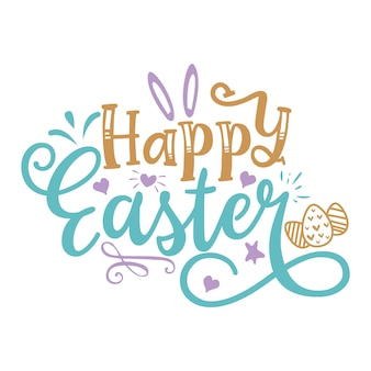 Happy easter letteting