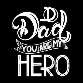 Happy father day belettering. wenskaart ontwerp. handgetekende tekst. elementen voor uitnodigingen, posters, wenskaarten. t-shirt ontwerp