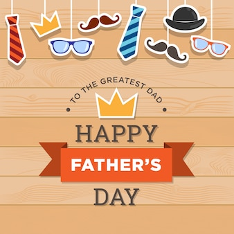 Happy father's day achtergrondontwerp
