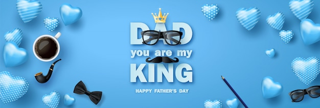 Happy father's day begroeting banner