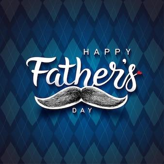 Happy father's day belettering zin. hand getrokken vaders dag begroeting.