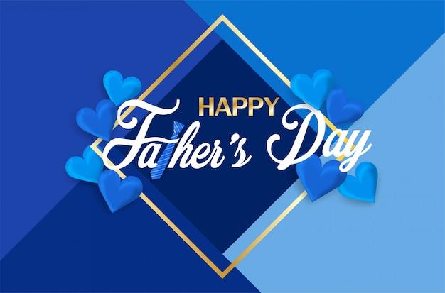 Happy father's day kalligrafie wenskaart.