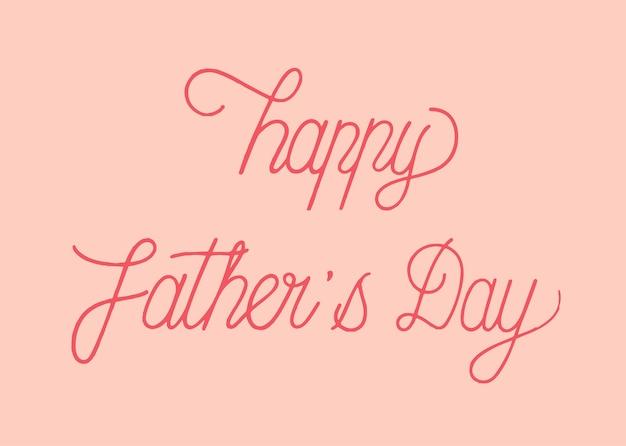 Happy father's day typografie ontwerp illustratie