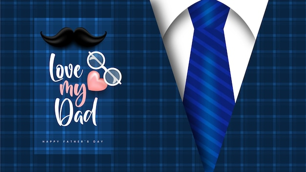 Happy fathers day vector social media post design