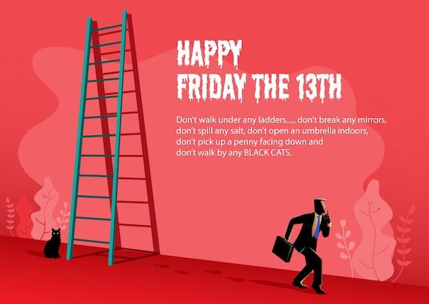 Happy friday de 13e illustratie