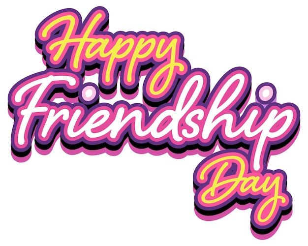 Happy friendship day belettering logo