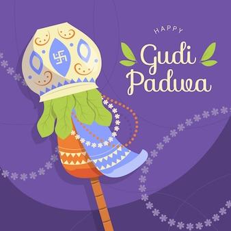 Happy gudi padwa banner