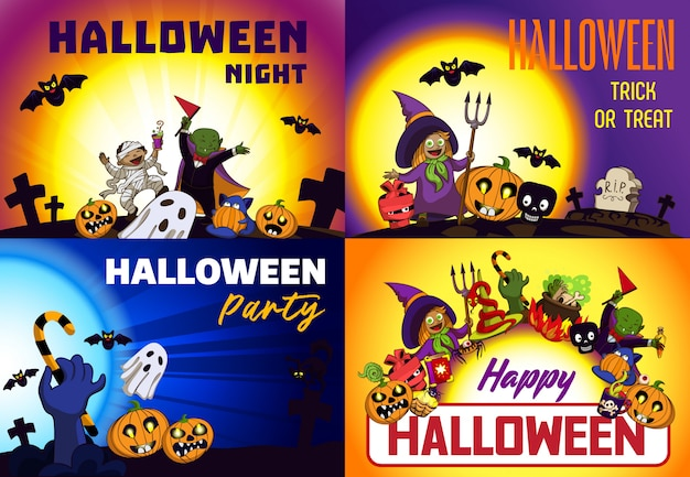 Happy halloween-achtergronden