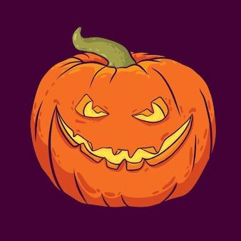 Happy halloween-banner met pompoen