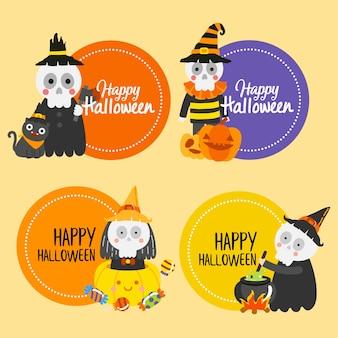 Happy halloween-banner.