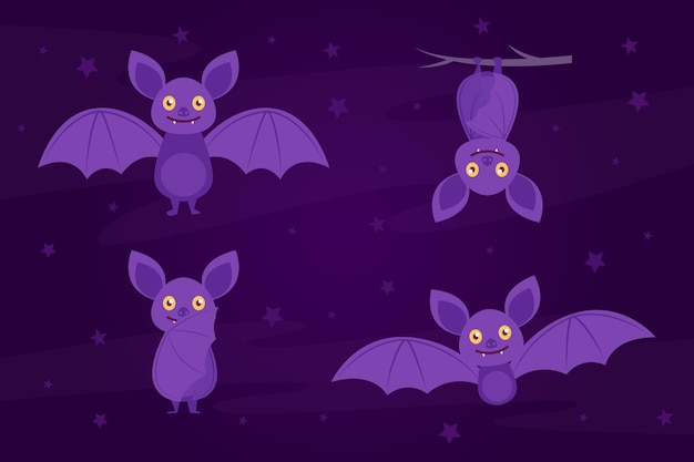 Happy halloween bat collectie