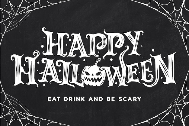 Happy halloween belettering concept