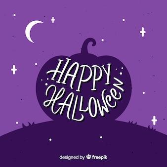 Happy halloween belettering van ontwerp