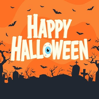 Happy halloween - belettering van ontwerp