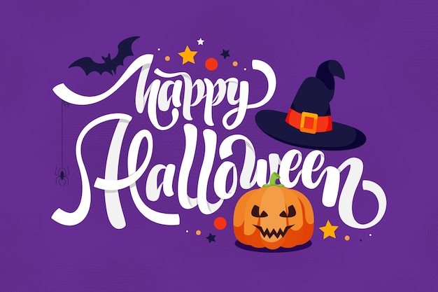 Happy halloween - belettering