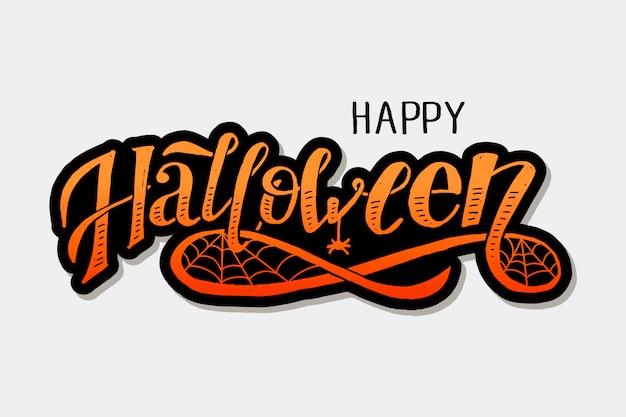 Happy halloween belettering