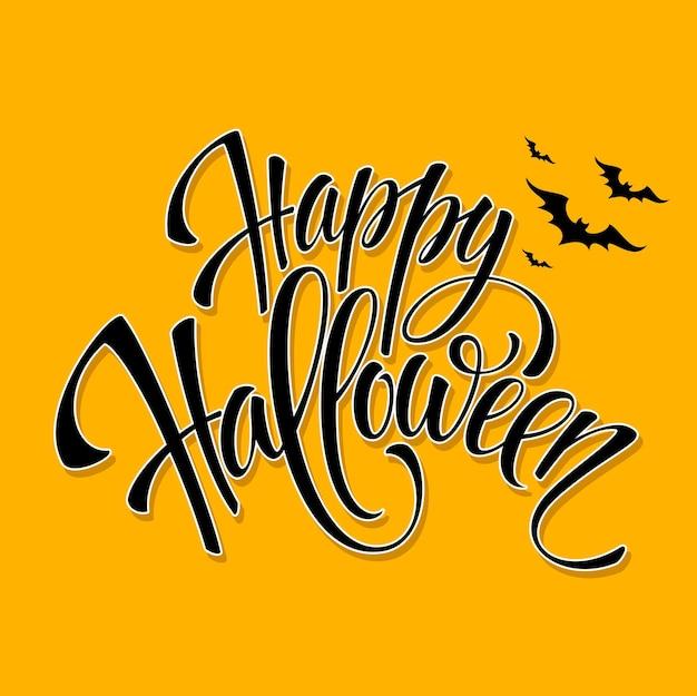 Happy halloween bericht ontwerp achtergrond. vectorillustratie eps 10