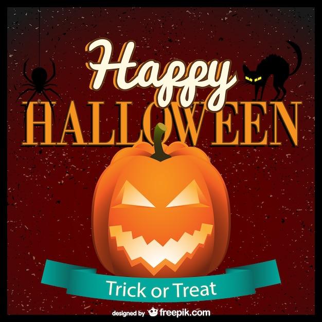 Happy halloween gratis vector kunst