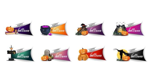 Happy halloween, grote reeks halloween-elementen groeten