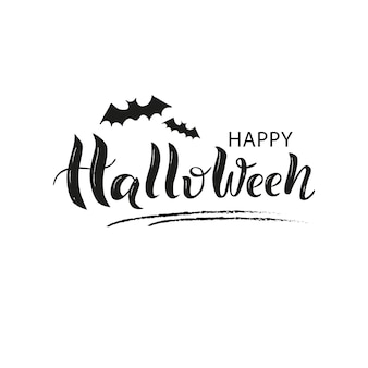 Happy halloween hand getekende letters.