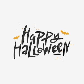 Happy halloween inscriptie.