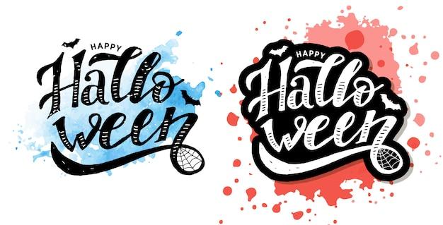 Happy halloween kalligrafie sticker