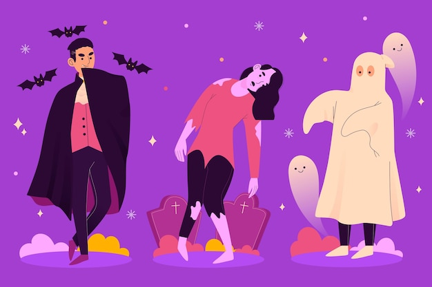 Happy halloween karakter enge collectie