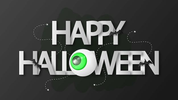 Happy halloween met 3d-vector