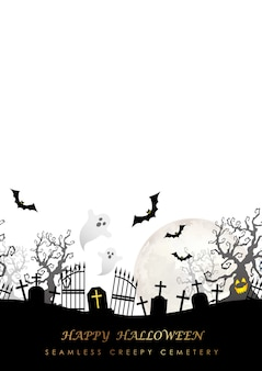 Happy halloween naadloze illustratie met de maan