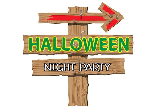 Happy halloween night party-tekenhout