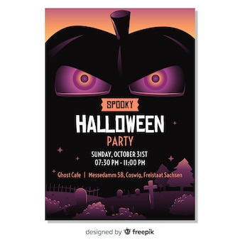 Happy halloween partij poster sjabloon
