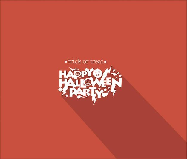 Happy halloween party wenskaart kalligrafie - halloween spandoek of poster.
