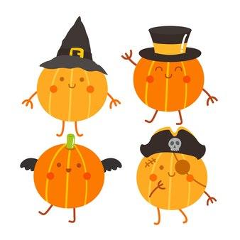 Happy halloween pompoen vector.