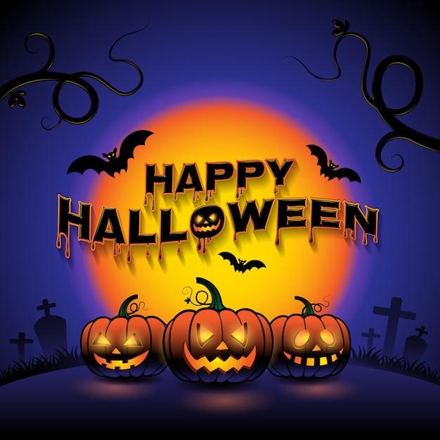 Happy halloween pompoenen