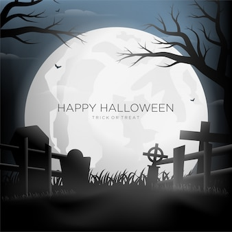 Happy halloween-silhouetachtergrond