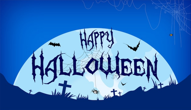 Happy halloween-tekstbanner