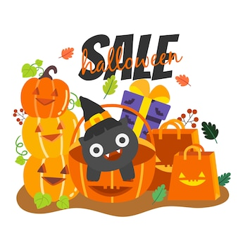 Happy halloween-verkoop.