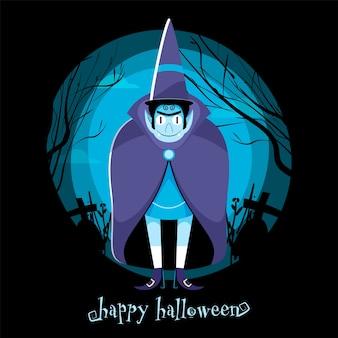 Happy halloween viering posterontwerp