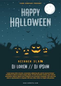 Happy halloween zakelijke flyer ontwerpsjabloon