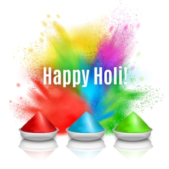 Happy holi holiday wenskaart