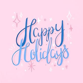 Happy holidays typografie, leuke & feestelijke groet vector