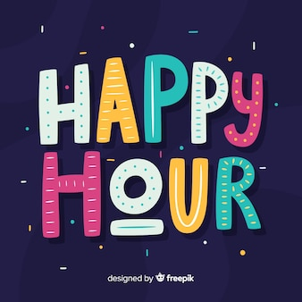 Happy hour belettering achtergrond