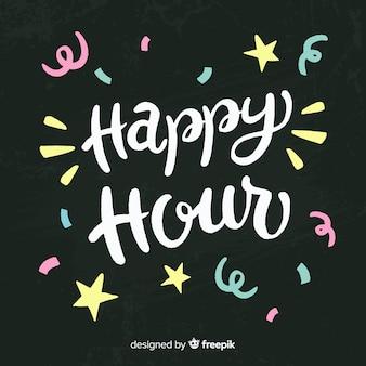 Happy hour evenement op schoolbord
