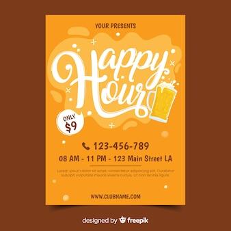 Happy hour poster sjabloon
