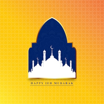 Happy ied mubarak vector achtergrond