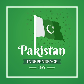 Happy independence day 14 augustus pakistan wenskaart