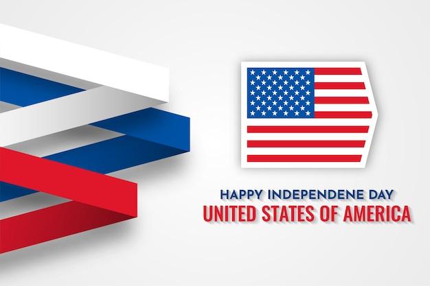 Happy independence day kaart van de verenigde staten van amerika sjabloonontwerp