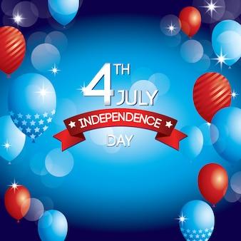 Happy independence day ontwerp van de verenigde staten van amerika
